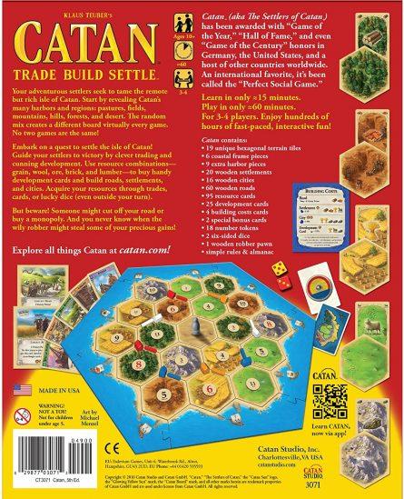 Catan Base Game Back