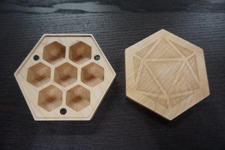 Maple Wood Hex Case