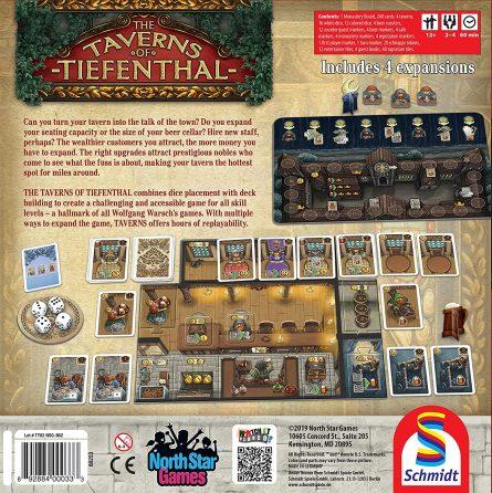 Taverns back of box