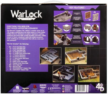 Dungeon Tiles Back of Box