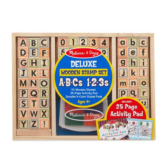 Wooden ABC Activity Stamp Set